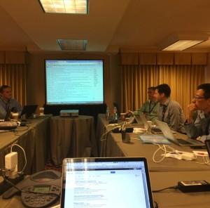 图为实验室老师参加W3C 2014年度TPAC会议